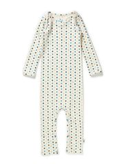 Bodysuit - Off white wool multi clover