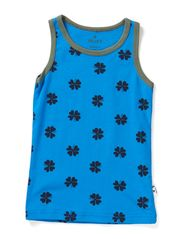 Undershirt - Bright blue/tar mega clover
