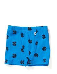 Boxershorts - Bright blue/tar mega clover