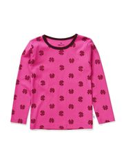 T-shirt - Warm Pink/Wine mega clover