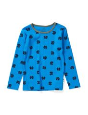 T-shirt - Bright blue/tar mega clover