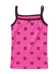 Undershirt - Warm pink/wine mega clover