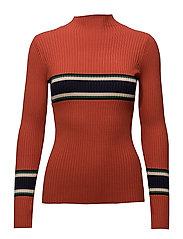STRIPY Sweater - ORANGE