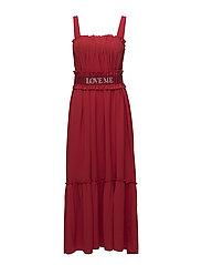 FRU STEEN Solid Dress - RED