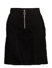 BRIDGET Denim Skirt - BLACK