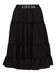 AMMEN Solid Skirt - BLACK