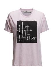 Bizzy Tee - Lt Pink Print