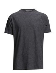 Devon Sweat Tee - Black Mel