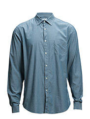 Roy Pocket Shirt - Lt Blue Denim