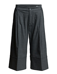Wide Trouser - GREY MEL