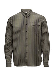 Air Pocket Shirt - KHAKI STRIPE