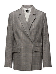 Loft Blazer - YELLOW CHECK