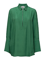 Poetry Zip Shirt - GREEN
