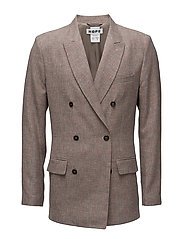 Sharp Blazer - BEIGE CHECK