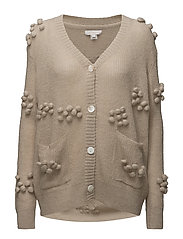 KNITTED CARDIGAN - LINEN