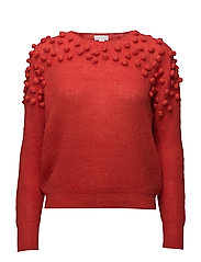 KNITTED SWEATER - RED