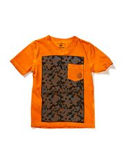 T-shirt, V-neck - orange