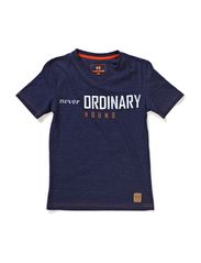 T-shirt, V-neck - Navy mix