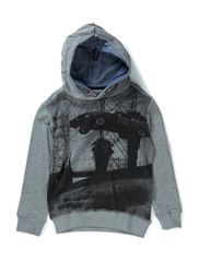 Sweat with hoodie - grey mix