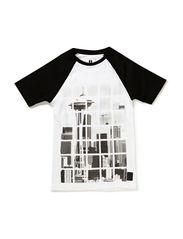 Tee S/S - white/black
