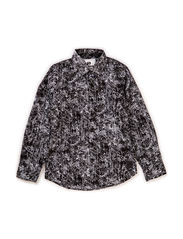 Shirt l/s - all over printed - black