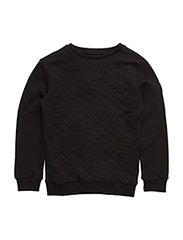 Crew neck - Quilted - black