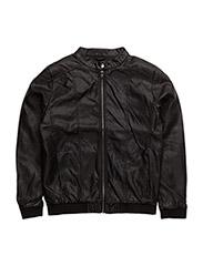 PU jacket - BLACK