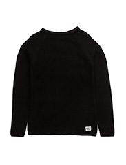 Knit o-neck - BLACK