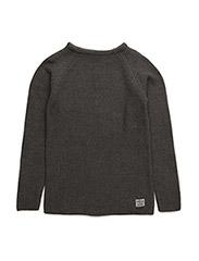 Knit o-neck - GREY MIX