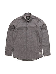 Flannel shirt l/s - DARK GREY