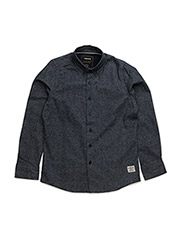 Flannel shirt l/s - DARK NAVY