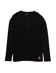 Granddad long sleeve - black