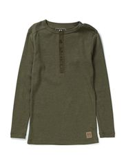 Granddad long sleeve - green mix