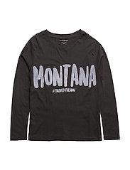 T long sleeve Montana - BLACK
