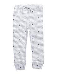 Baby legging - WHITE DOTS
