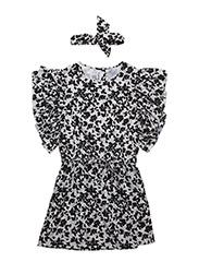 Cilla dress - BUTTERFLY BLACK