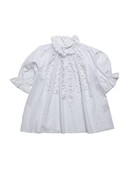 Mimi Blouse - SILVER DOT WHITE