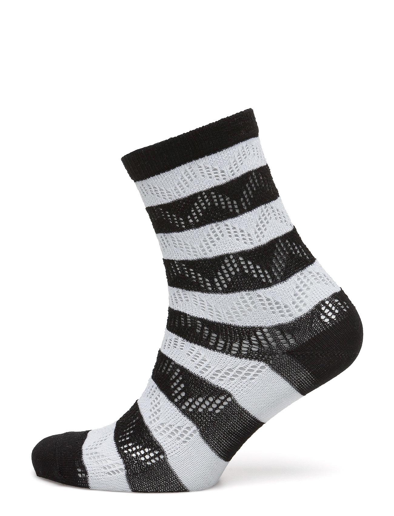 Crochet Stripes Hudson Strømpebukser til Damer i Sort