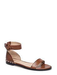 Uptown Flat Sandal-S - MEDIUM BROWN