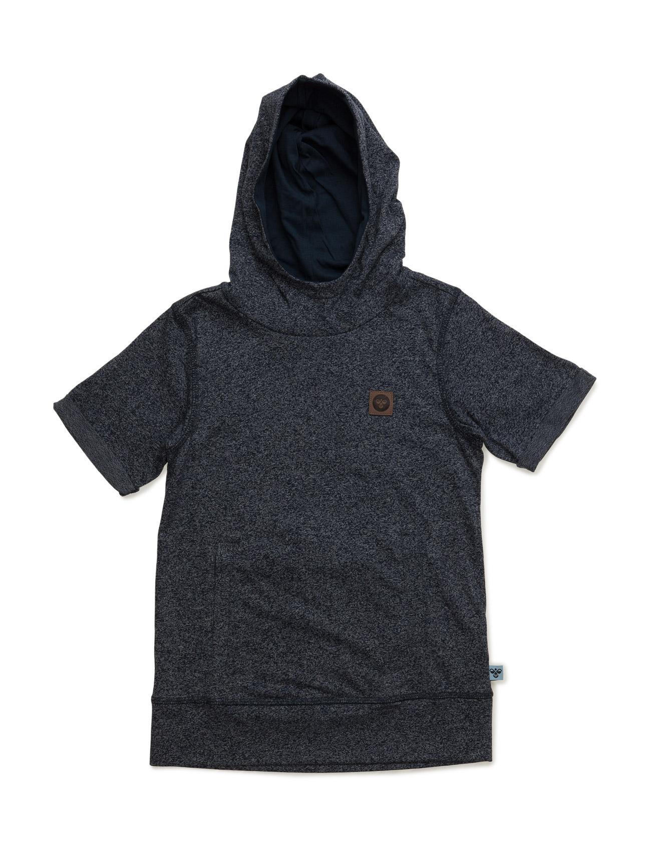 Wigan Ss Tee With Hood Hummel Kortærmede t-shirts til Børn i Blå Melange