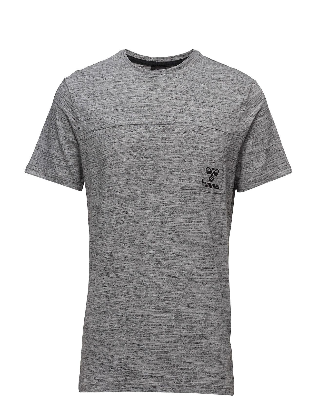 Classic Bee Willum Ss Tee Hummel Løbe t-shirts til Herrer i Grey Melange