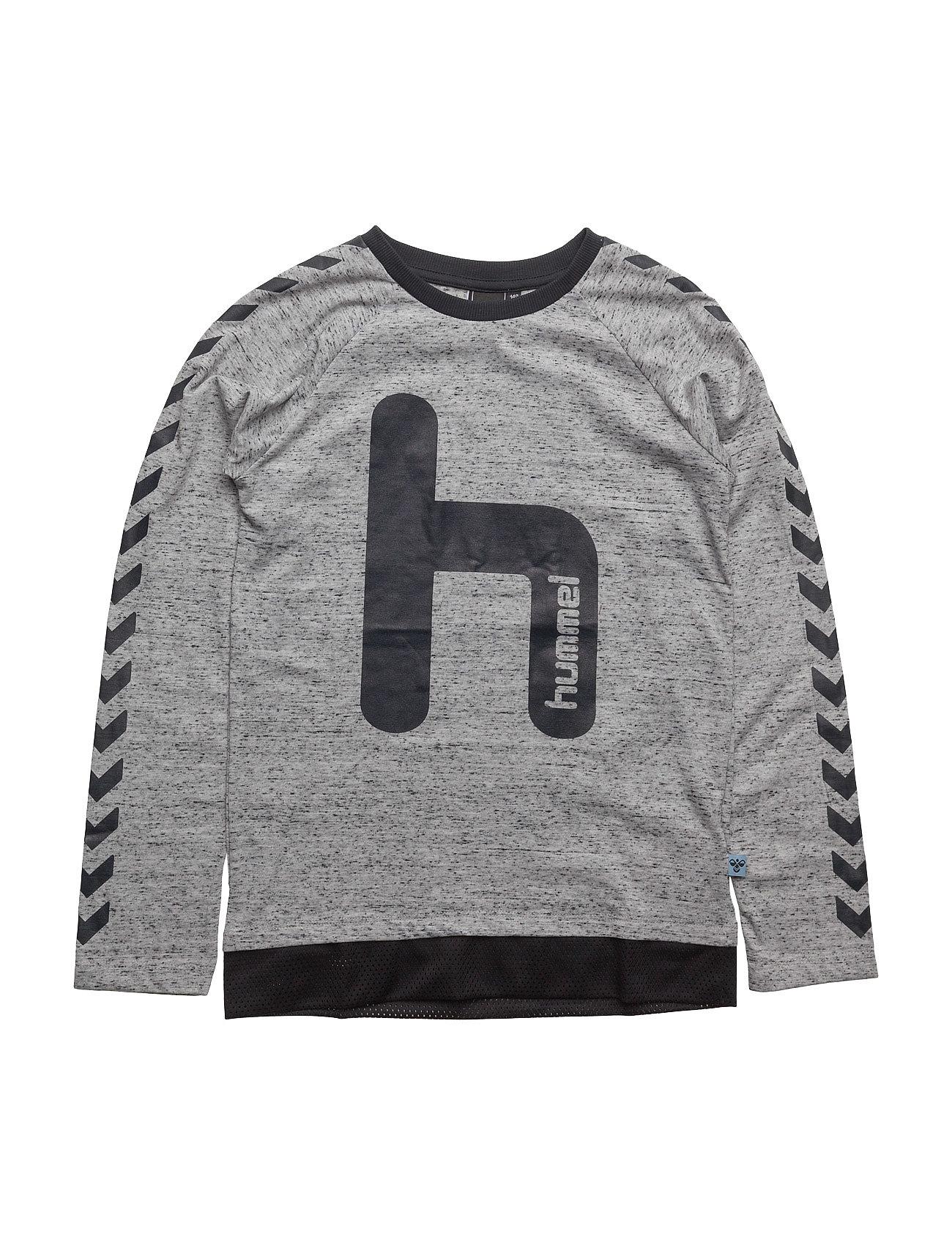Hans Ls Tee Hummel Langærmede t-shirts til Børn i Grey Melange