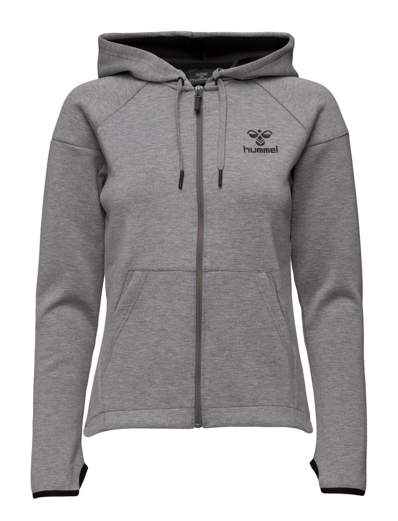 Classic Bee Wo Neo Zip Jacket Hummel Sports toppe til Unisex i Grey Melange