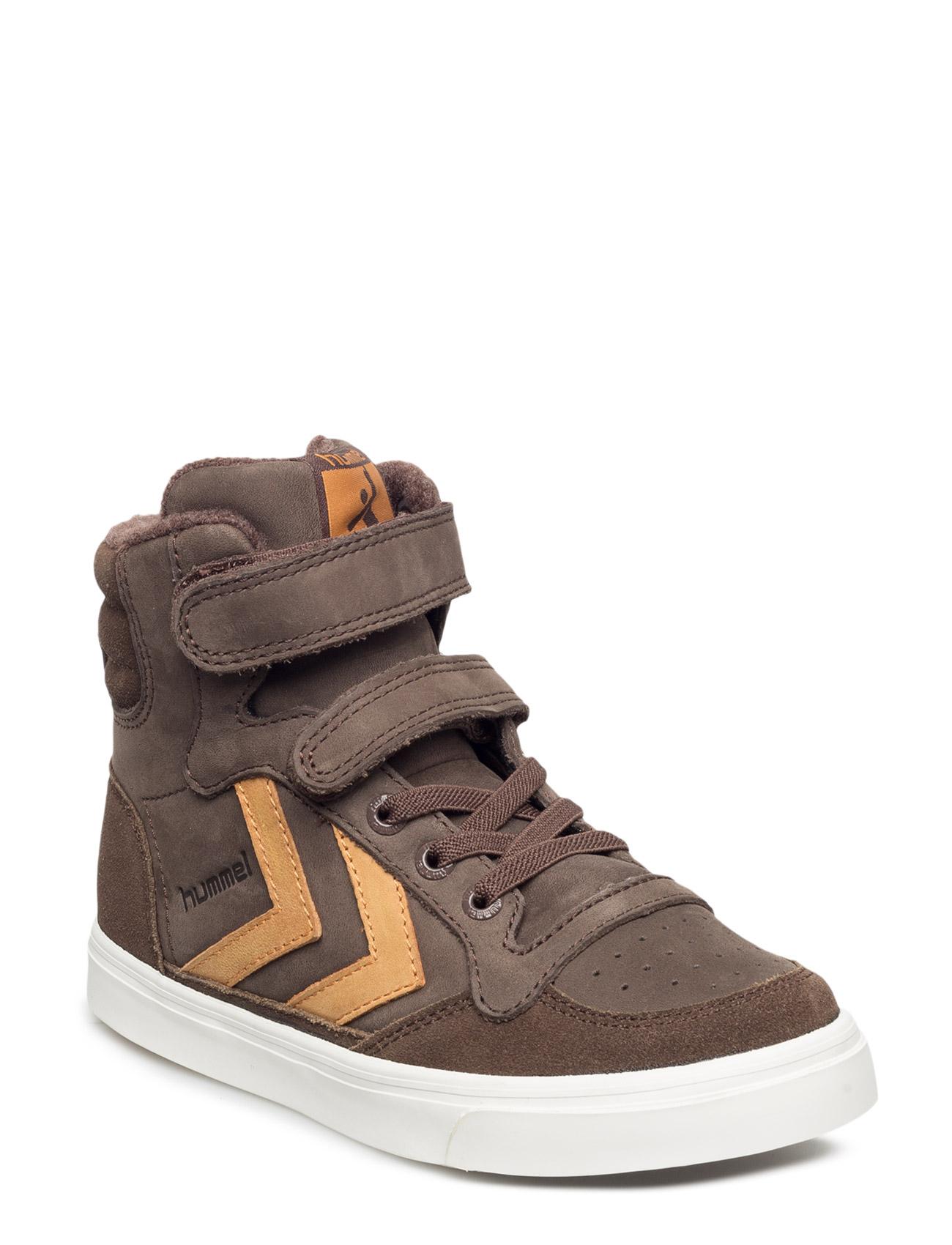 Stadil Oiled High Sneaker Jr Hummel Sko & Sneakers til Børn i kastanje