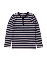 THOMAS LS TEE - DRESS BLUE