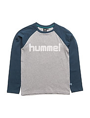 RIVER LS TEE - CREME GREY