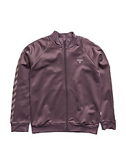 ADEL ZIP JACKET - BLACK PLUM
