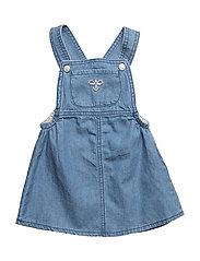 HMLELLEN DRESS S/L - DENIM BLUE