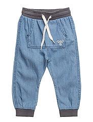 HMLLAMA PANTS - DENIM BLUE