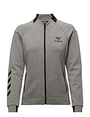 HMLCLIO ZIP JACKET - GREY MELANGE